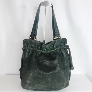 Lucky Brand Bags - Lucky Brand  green leather purse hand bag